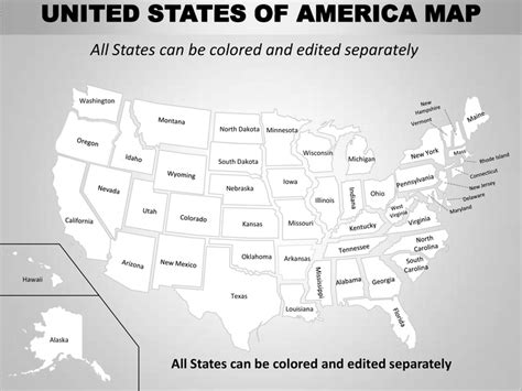 us map that you can color in usa country editable powerpoint maps with states and counties