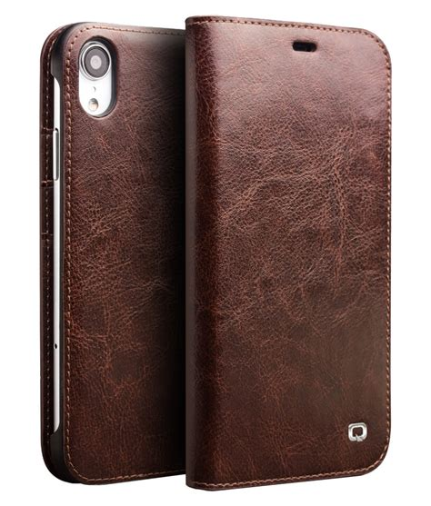 classic leather wallet for iphone xr qialino
