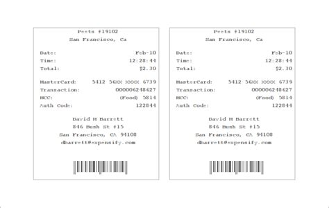 electronics receipt template 7 electronic receipt templates doc pdf free