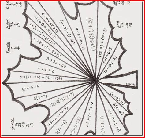 printable math art projects 6th grade math worksheets printable kristal project