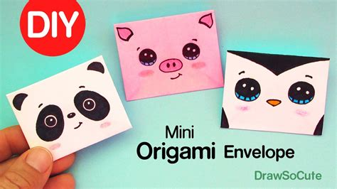 Mini Origami Envelope - how to make a mini origami envelope easy