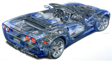 corvette engineering c6 cutaway pics all in one place corvetteforum