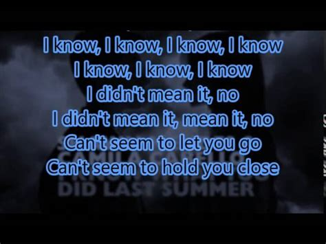 shawn mendes original song lyrics i know what you did last summer shawn mendes camila