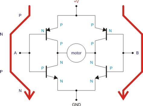 bjt transistor h bridge die bot reise puente h qik 2s12v10 dual serial de pololu tutorial