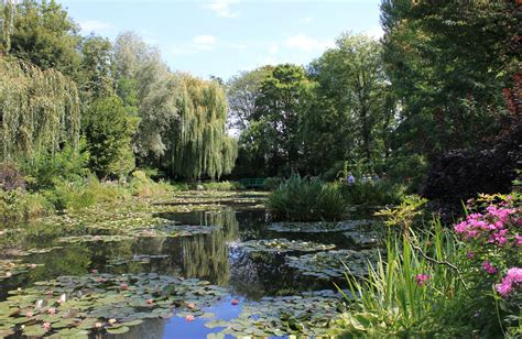 garten claude monet in giverny normandie foto bild
