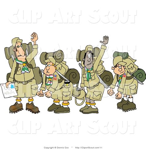 clipart scout royalty free hiking stock scout designs
