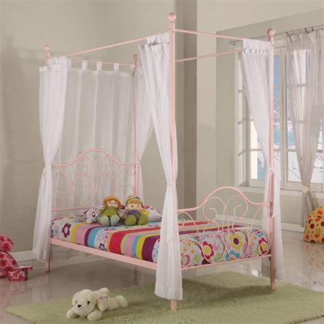 little girl canopy bed metal twin canopy bed in pink finish little girl s need this bed canopy bed