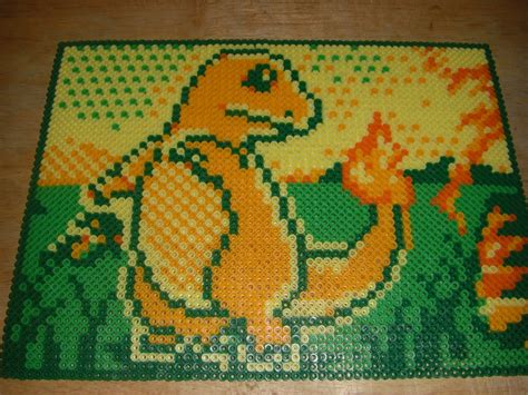 perler at charmander pixel perler by spevial101 on deviantart