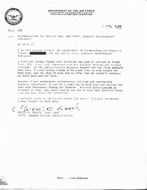 Letter Of Evaluation Usaf letter of recommendation sle air cover