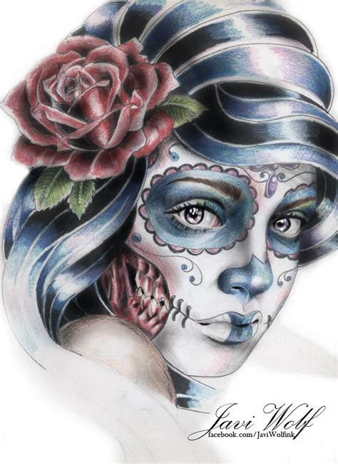 catrinas tattoo catrina design by javi wolf id 233 e tattoos