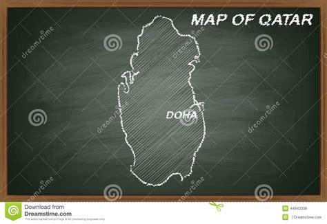chalkboard paint qatar qatar on blackboard stock illustration image 44943338