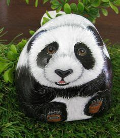 panda garden rock cailloux d 233 cor 233 s on rock painting