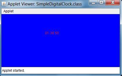 Java Calendar 0 Hour Digital Clock In Java Applet