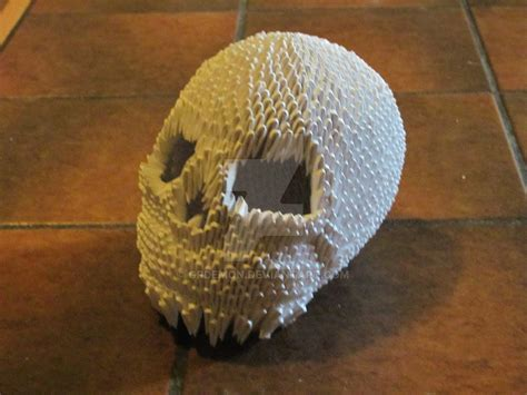 origami skull 3d skull by grdemon on deviantart