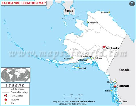 where is alaska on a map where is fairbanks located in alaska usa