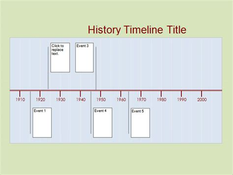 word timeline template history timeline 6 free for pdf word sle
