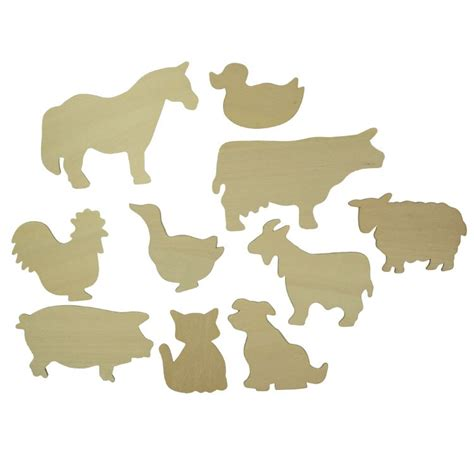 Farm Animals Templates Bj021t07 Bigjigs Toys Animal Templates