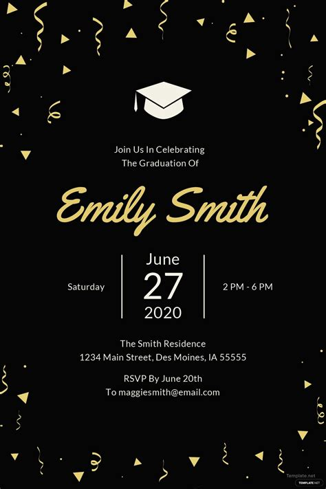 graduation invitation template  microsoft word