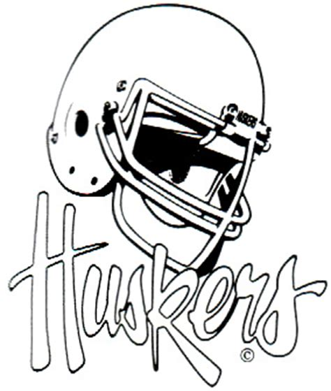 Husker Coloring Pages nebraska cornhuskers mascots and logos
