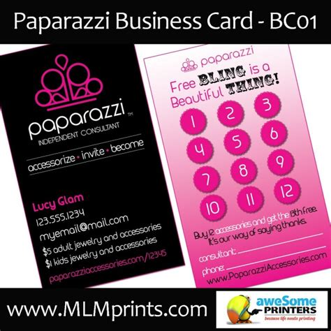 Paparazzi Jewelry Banners Style Guru Fashion Glitz Glamour Style Unplugged Paparazzi Business Card Template