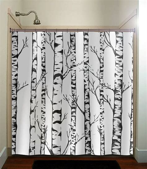 birch tree curtains winter forest birch trees shower curtain bathroom decor