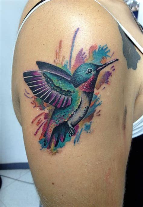 tattoo 3d kolibri beautiful flower and colibri tattoo on forearm
