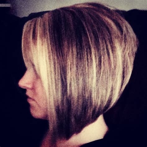 long in front and stacked in the back stacked angled bob long front short back i m cutting my
