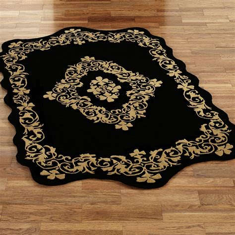 gold and black rug gold and black rug shapes gold and black rug falls in minimalist room editeestrela