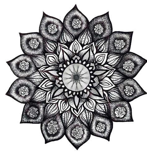 mandala tattoo white lotus mandala in black and white i would love this as