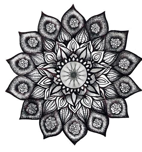 mandala tattoo in white lotus mandala in black and white i would love this as