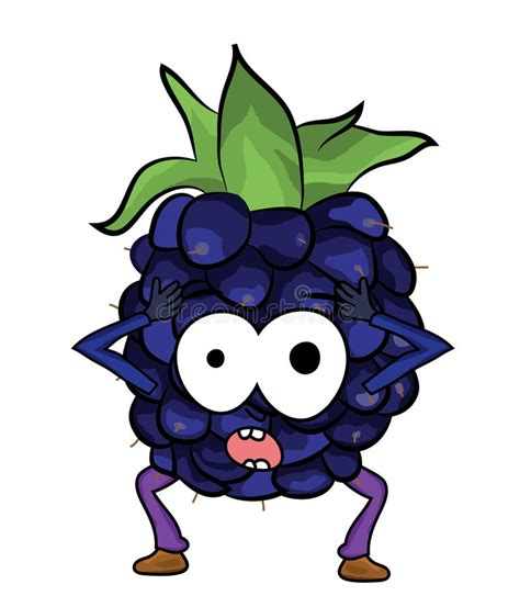 imagen blackberry comicas blackberry fruit cartoon illustration stock illustration