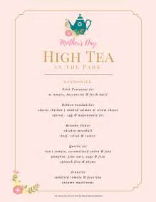mother s day high tea in the park tickets sun 08 05 2016 at 10 00 am eventbrite