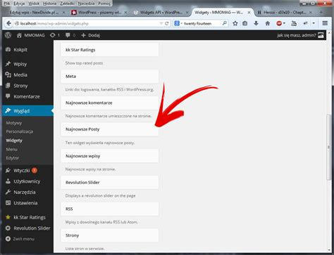 tutorial admin wordpress wordpress widget tutorial piszemy własny widget część 1
