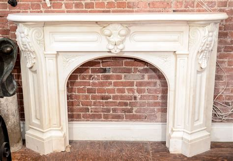 arched fireplace mantels white arched mantel with corbels at 1stdibs
