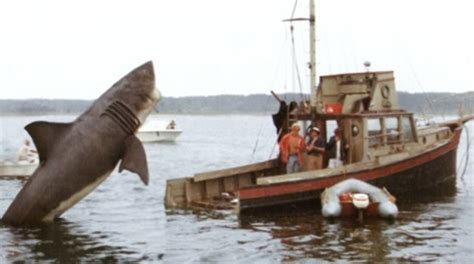 jaws jumps on boat what floats hollywood s boat forespar s point of view