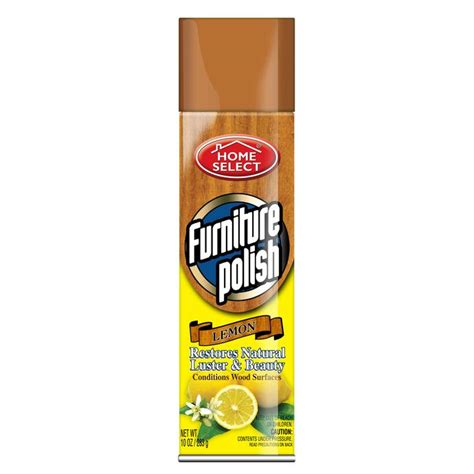 couch cleaner spray furniture polish spray lemon 10oz home select brand
