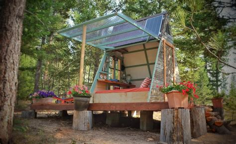 how to build a tiny cabin couple builds tiny expandable cabin for 700 in montana