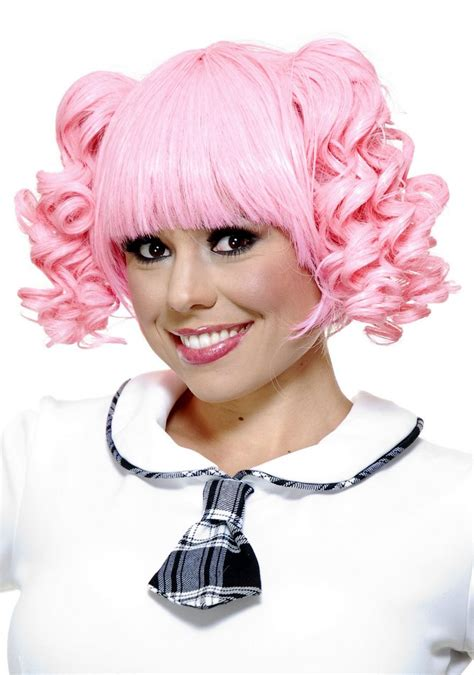 Madoka Kid Pink Light Pink Mahou Shoujo Madoka Anime Pigtail Wig