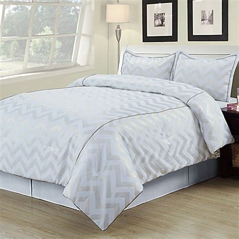 bed bath and beyond white comforter buy cadence twin comforter set in white gold from bed bath