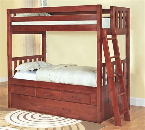 Convertible Bunk Bed by Discovery World Furniture Merlot