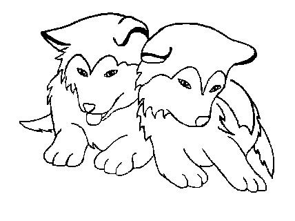 dog team coloring page husky dog puppy drawing gallery