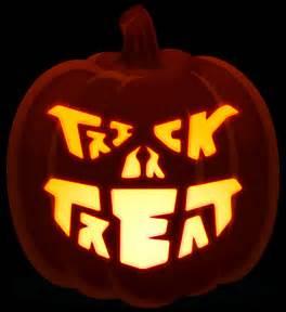 trick or treat pumpkin template simple faces orange and black pumpkins
