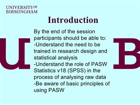 design of experiment using spss pas wv18 spssv18 slides