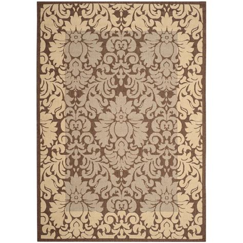 Safavieh Courtyard Chocolate Natural 4 Ft X 5 Ft 7 In Outdoor Rugs At Home Depot