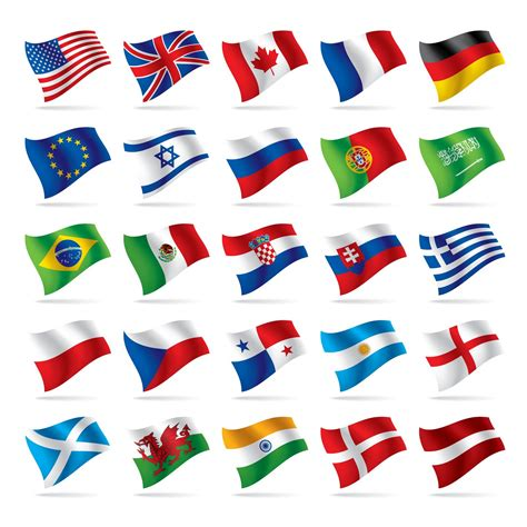 Flags Of The World Vector Eps | quality graphic resources vector flags of the world