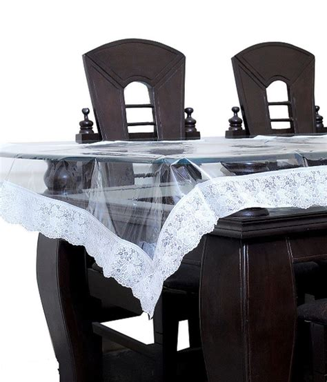 Dining Tables Covers Kuber Industries Dining Table Cover Transparent 6 Seater Buy Kuber Industries Dining Table