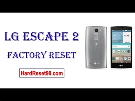 hard reset lg tribute 2 factory reset remove unlock pattern how to factory reset lg escape 2 youtube