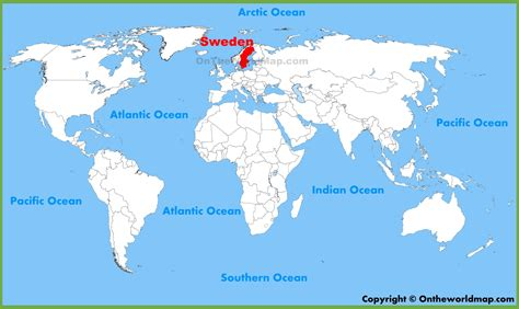 sweden on a world map sweden location on the world map
