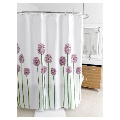 purple and grey shower curtain fabric floral shower curtain purple green splash home