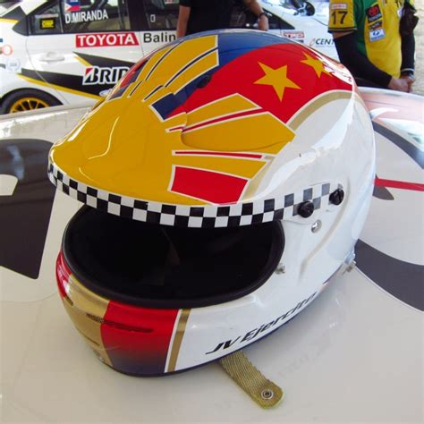 helmet design philippines the colorful helmets of the toyota vios cup in cebu